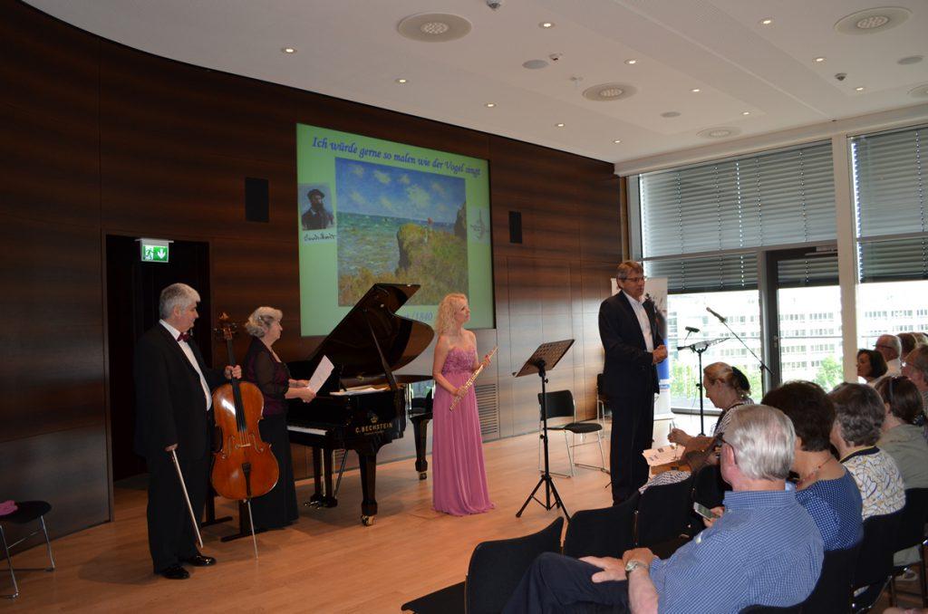 Veranstaltung am 7. Juli 2018 zu Claude Monet in der Sparda-Bank Hessen eG
